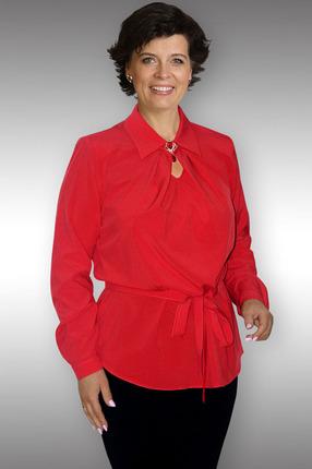 Купить Блузка Таир-Гранд 62195 красный, Блузки, 62195, красный, Состав ткани: вискоза 60%, пэ 37%, ликра 3%, Мультисезон