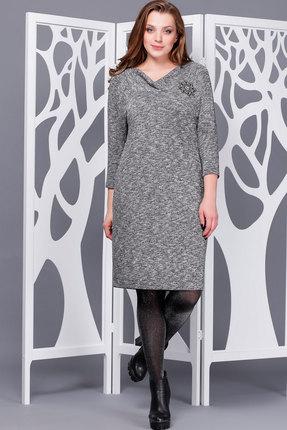 Купить Платье ТАиЕР 652 серый, Платья, 652, серый, Вискоза 60%, ПЭ 34%, Эластан 5%, Люрекс 1%, Мультисезон