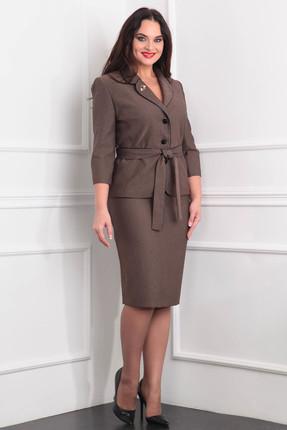 Купить Комплект юбочный Milana 865 коричневые тона, Юбочные, 865, коричневые тона, Материал костюма: костюмно-плательная Состав: ПЭ-67%, вискоза-33%, Мультисезон