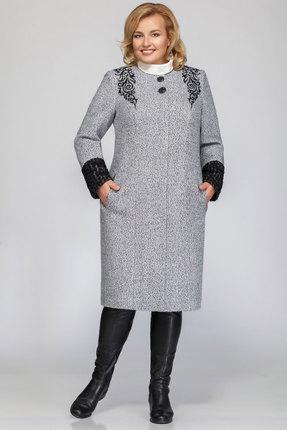 Купить Пальто LaKona 797 темно-серый, Пальто, 797, темно-серый, Вискоза 60%+Шерсть 40%, Мультисезон