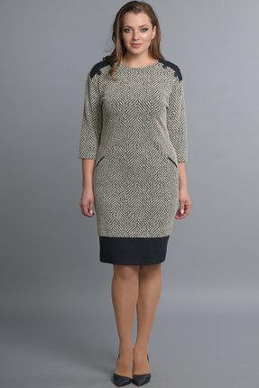 Купить Платье Lady Style Classic 1208 серые тона, Платья, 1208, серые тона, ПЭ 55%+Вискоза 40%+ПУ 5%, Мультисезон