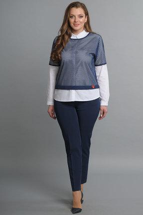 Купить со скидкой Комплект брючный Lady Style Classic 1354 синий