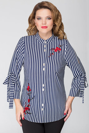 Рубашка Дали 5268 синяя полоска