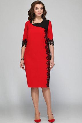 Купить со скидкой Платье Matini 31141 красный с черным