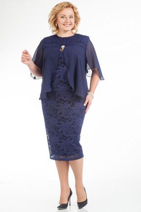 Купить Платье Pretty 593 синий, Платья, 593, синий, 96% полиэстр 4% спандекс, 100% полиэстр, Мультисезон