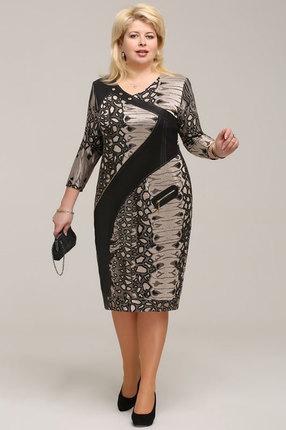 Купить Платье Bonna Image 13-201 леопард, Платья, 13-201, леопард, 75% вискоза, 22% ПЭ, 3% спандекс., Мультисезон
