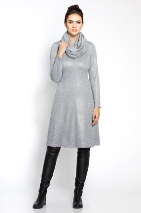 Купить Платье PIRS 219 серый, Платья, 219, серый, 96% полиэстр 4% спандекс, Мультисезон