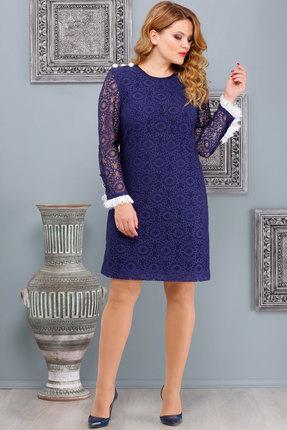 Купить Платье Nadin-N 1468 синий, Платья, 1468, синий, ПЭ 62%, Вискоза 30%, Лайкра 8%, Мультисезон