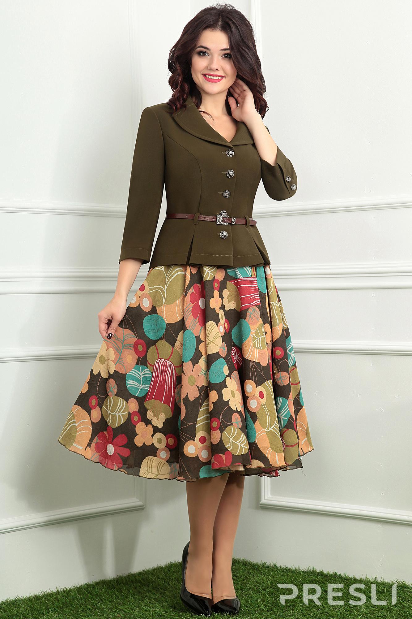 Комплект юбочный Мода-Юрс 2136 хаки