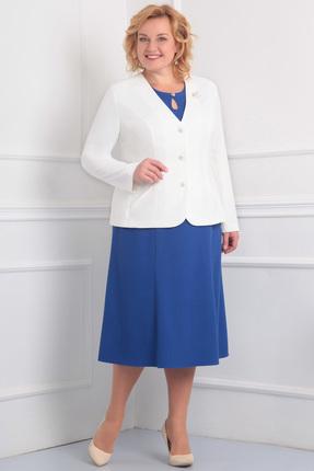 Купить со скидкой Комплект плательный Ксения Стиль 1470 мочный - синий