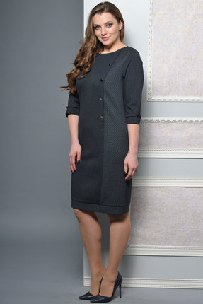 Купить Платье Lady Style Classic 955 серый, Платья, 955, серый, ПЭ 55%+Вискоза 40%+ПУ 5%, Мультисезон
