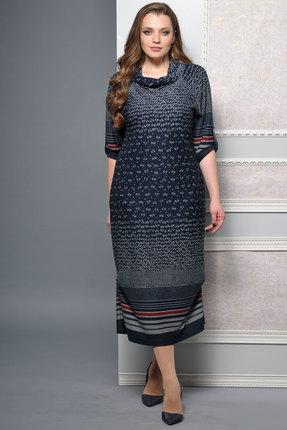 Купить Платье Lady Style Classic 1233 темно-синий, Платья, 1233, темно-синий, ПЭ 58%+Вискоза 38%+ПУ 4%, Мультисезон
