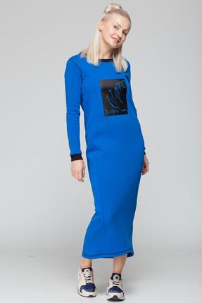 Спортивное платье HIT 4007 василек