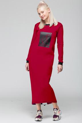 Спортивное платье HIT 4007 красные тона