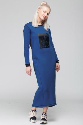 Спортивное платье HIT 4007 синий