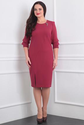 Купить Платье Milana 848 красные тона, Платья, 848, красные тона, Костюмно-плательная со стрейчем Состав: ПЭ-50%, вискоза-47% спандекс-3%., Мультисезон