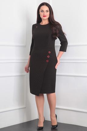 Купить Платье Milana 869 коричневые тона, Платья, 869, коричневые тона, Костюмно-плательная со стрейчем(полоска). Состав: ПЭ-87%, вискоза-10% спандекс-3%., Мультисезон