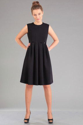Купить Платье Ива 958 черный, Платья, 958, черный, ткань костюмная 70% п/э, 25% вискоза, 5% спандекс; подкладка 100%п/э, Мультисезон