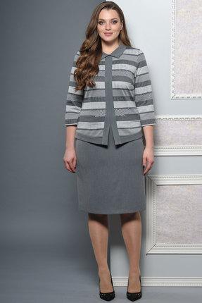 Купить Комплект юбочный Lady Style Classic 1292 серый, Юбочные, 1292, серый, Жакет: ПЭ 62%+Вискоза 38% Юбка: ПЭ 80%+Вискоза 16%+ПУ 4%, Мультисезон