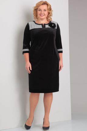 Купить Платье Диамант 1241 черный, Платья, 1241, черный, 40% хб, 20% пэ, 10% вискоза, 30% нейлон, Мультисезон