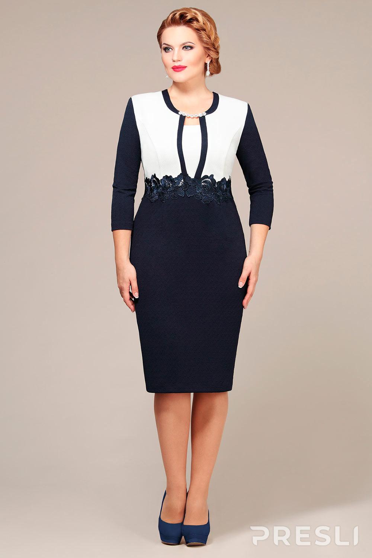 Платье Mira Fashion 3668 темно-синий