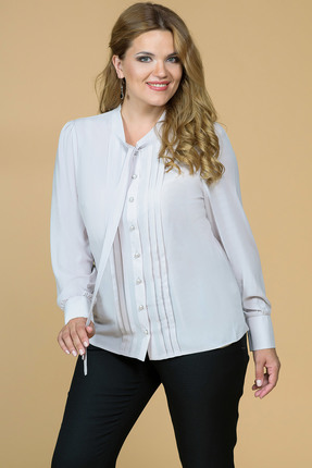 Рубашка Медея и К 1697 беж, Рубашки, 1697, беж, 23, 4% вискоза, 70, 7% полиэстер, 5, 9% спандекс, Мультисезон  - купить со скидкой