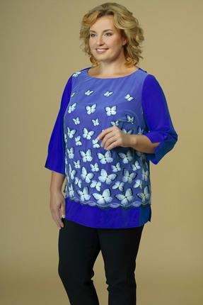 женская блузка avline, синяя