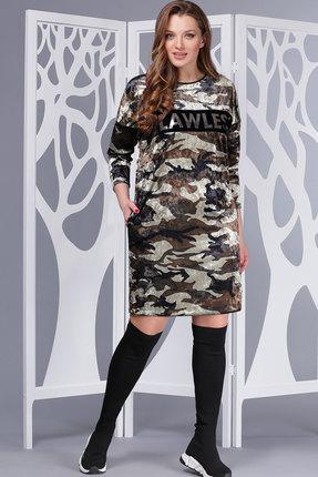 Купить Платье ТАиЕР 661 хаки, Платья, 661, хаки, ПЭ 100%, Мультисезон