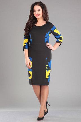 Купить Платье Ива 965 черный, Повседневные платья, 965, черный, плательный трикотаж с небольшим начесом 70%вискоза, 25% п/э, 5% спандекс, Мультисезон