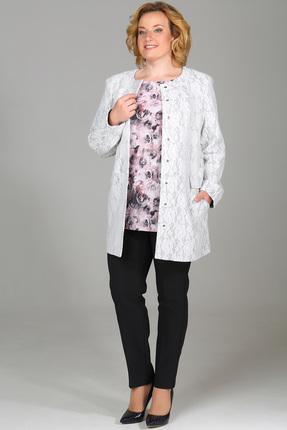 Купить Пальто Медея и К 1831 серый, Пальто, 1831, серый, 30% шерсть, 40% вискоза, 30% полиэстер, Мультисезон