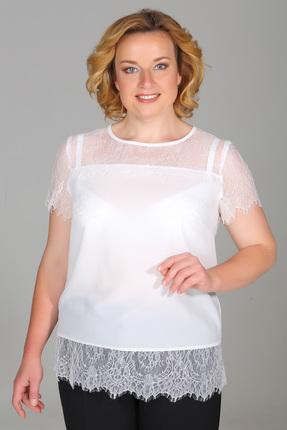 Купить Блузка Медея и К 1850 белый, Блузки, 1850, белый, 23, 4% вискоза, 70, 7%полиэстер, 5, 9%спандекс, Мультисезон