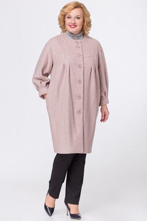 Купить Пальто Медея и К 1694 розовый, Пальто, 1694, розовый, Трикотажное полотно (30% шерсть, 40% вискоза, 30% полиэстер), Мультисезон