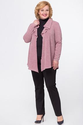 Купить Кардиган Медея и К 1880 розовый, Кардиганы, 1880, розовый, Трикотаж: 30% шерсть, 40% вискоза, 30% полиэстер, Мультисезон