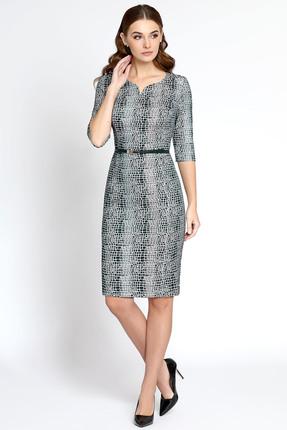 Купить Платье Bazalini 2939 серый, Платья, 2939, серый, Костюмно-платьевая. Стрейч. ПЭ 45% Вискоза 32% Металлич. нить 20% Эластан 3%, Мультисезон