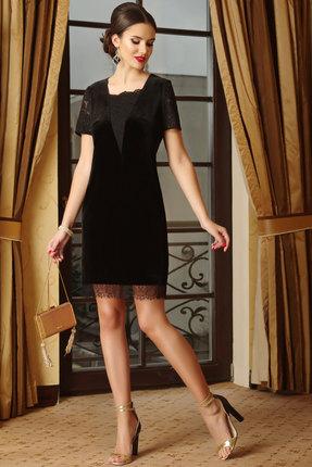 Купить Платье Lissana 3255 черный, Платья, 3255, черный, ПЭ 95%+Спандекс 5%, Мультисезон