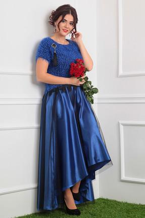 Комплект юбочный Мода-Юрс 2376 синий