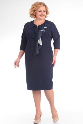 Купить Платье Pretty 627 синий, Платья, 627, синий, 96% полиэстр 4% спандекс, 100% полиэстр, Мультисезон