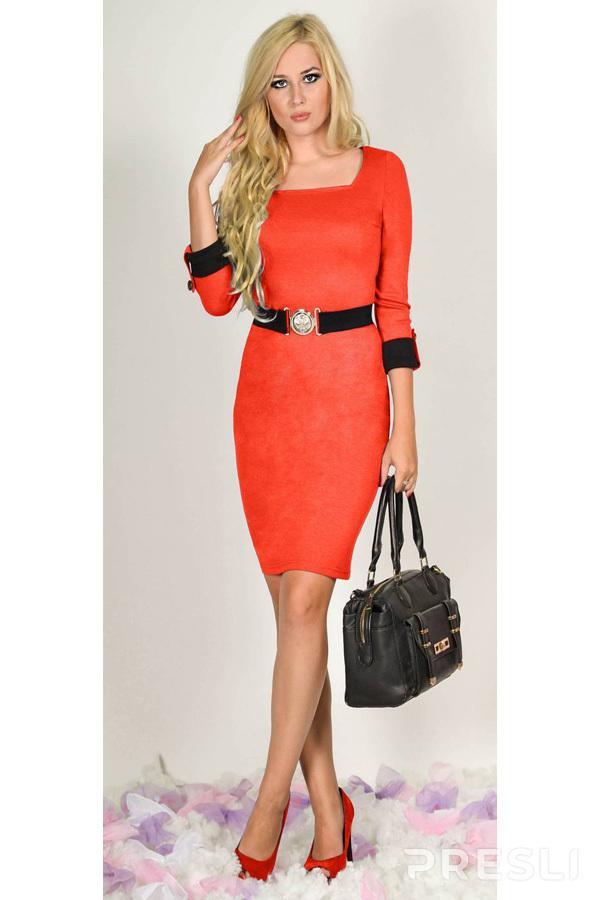 Платье Laskany 4003 коралл
