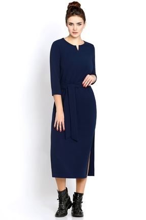 Купить Платье PIRS 246 темно-синий, Платья, 246, темно-синий, 80% полиэстр 20% вискоза, Мультисезон