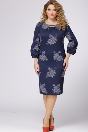Купить Платье Bonna Image 300 синий, Платья, 300, синий, 65% ПЭ, 35% Вискоза, Мультисезон