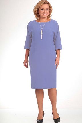 Купить Платье Elga 01-472 сиренево-голубой, Платья, 01-472, сиренево-голубой, 70% - ПЭ 25% - Вискоза 5% - Спандекс, Мультисезон