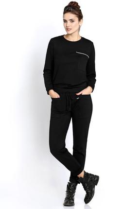 Купить Спортивный костюм PIRS 250 черный, Спортивные костюмы, 250, черный, 49% хлопок 48% нейлон 3 % спандекс, Мультисезон
