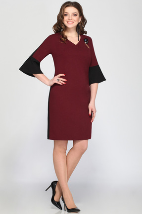 Купить Платье Matini 31159 бордо, Платья, 31159, бордо, пэ 95%, эластан 5%, Мультисезон