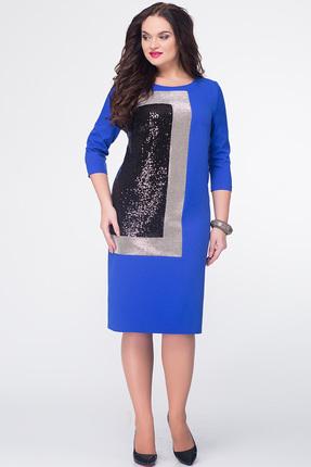 Купить Платье Erika Style 579 василек, Платья, 579, василек, вискоза 72%, ПЭ 25%, спандекс 3%, Мультисезон