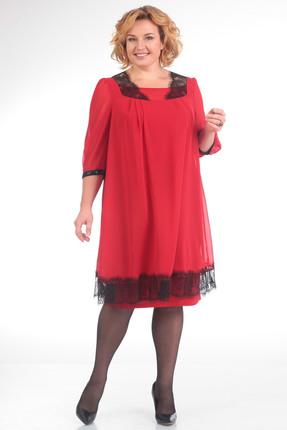 Купить Платье Pretty 624 красный, Платья, 624, красный, 96% полиэстр 4% спандекс, 100% полиэстр, Мультисезон