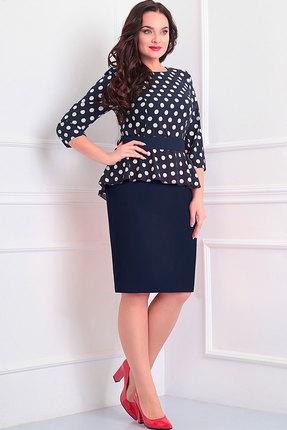 Купить Платье Асолия 2345 синий, Платья, 2345, синий, ПЭ - 66%, Вискоза - 29%, Спандекс - 5%, Мультисезон