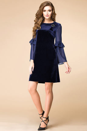 Купить Платье Romanovich style 1-1566 синий, Платья, 1-1566, синий, 95% ПЭ, 5% спандекс, Мультисезон