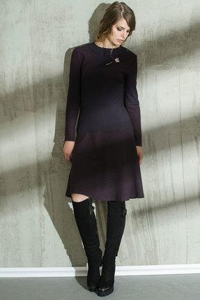 Платье Anna Majewska 1040 темные тона