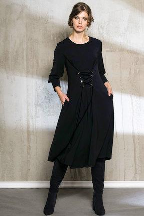 Платье Anna Majewska 1071 темно синий