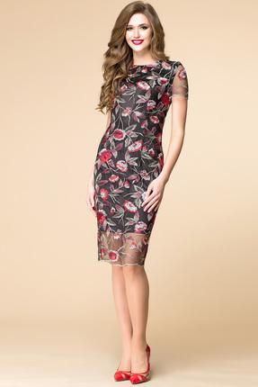 Купить Платье Romanovich style 1-1570 чёрно-красное, Платья, 1-1570, чёрно-красное, Текстиль: 95% ПЭ, 5% спандекс, Мультисезон